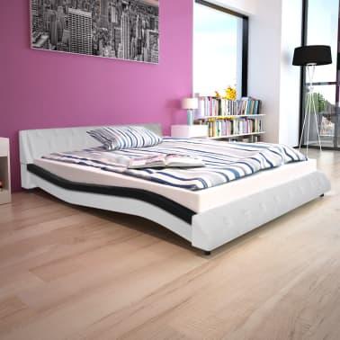 vidaXL Bett mit Memory-Foam-Matratze Kunstleder 160x200cm ...