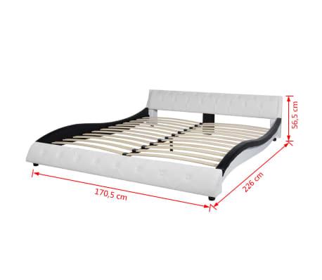 vidaxl bett mit matratze kunstleder 160x200 cm schwarz g nstig kaufen. Black Bedroom Furniture Sets. Home Design Ideas