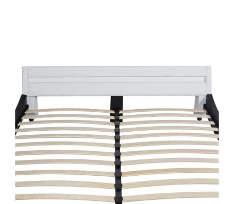 vidaxl bett mit led und matratze kunstleder 160x200 cm schwarz wei g nstig kaufen. Black Bedroom Furniture Sets. Home Design Ideas