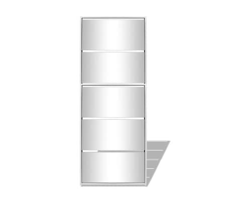 vidaxl schuhschrank mit 5 f chern spiegel wei 63 17 169 5 cm g nstig kaufen. Black Bedroom Furniture Sets. Home Design Ideas