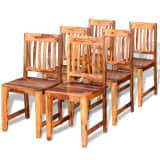 vidaXL Jídelní židle 6 ks masivní sheeshamové dřevo
