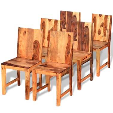 vidaXL Chaise de salle à manger 6 pcs Bois massif de Sesham[1/9]