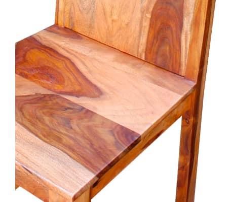 vidaXL Chaise de salle à manger 6 pcs Bois massif de Sesham[8/9]