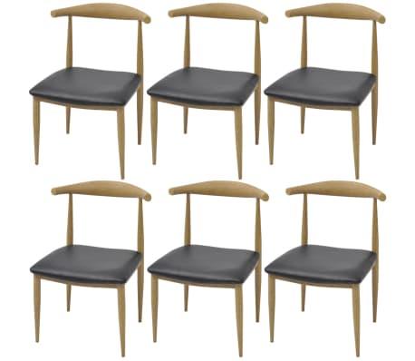 vidaxl esszimmerst hle 6 stk schwarz g nstig kaufen. Black Bedroom Furniture Sets. Home Design Ideas