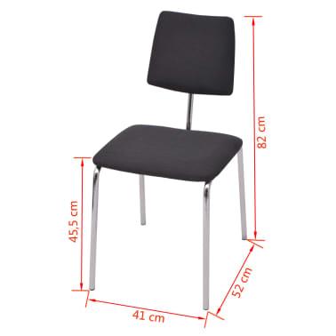 Vidaxl sedie sala da pranzo 6 pz in stoffa for Sedie sala da pranzo prezzi