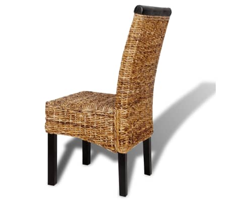 vidaXL Dining Chairs 4 pcs Abaca Brown[7/10]