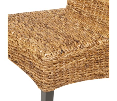 vidaXL Dining Chairs 4 pcs Abaca Brown[8/10]