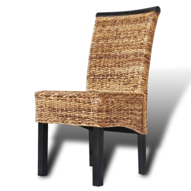vidaXL Dining Chairs 4 pcs Abaca Brown[5/10]