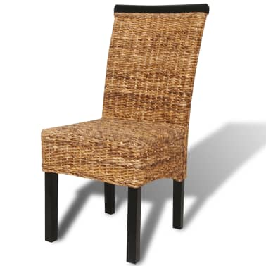 vidaXL Dining Chairs 4 pcs Abaca Brown[6/10]