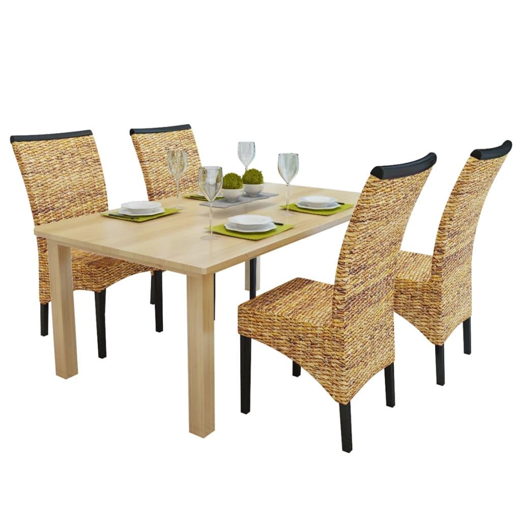 vidaXL Καρέκλες Τραπεζαρίας 4 τεμ. Καφέ από Άμπακα