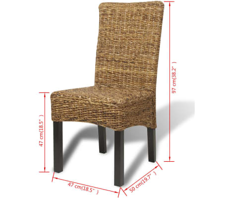 vidaXL Dining Chairs 6 pcs Abaca Brown[10/10]