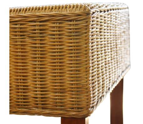 vidaXL Dining Chairs 6 pcs Rattan Brown[7/8]