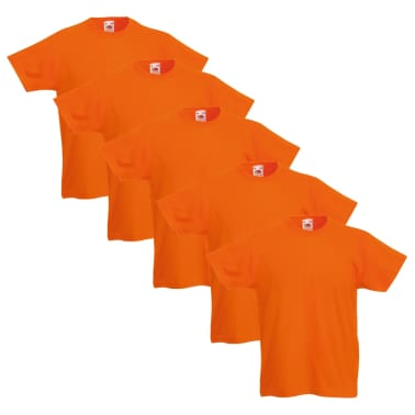 Fruit of the Loom Camiseta para niños 5 unidades naranja talla 116[2/5]
