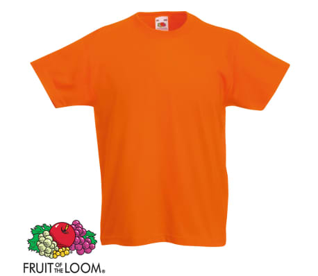 Fruit of the Loom Camiseta para niños 5 unidades naranja talla 116[3/5]