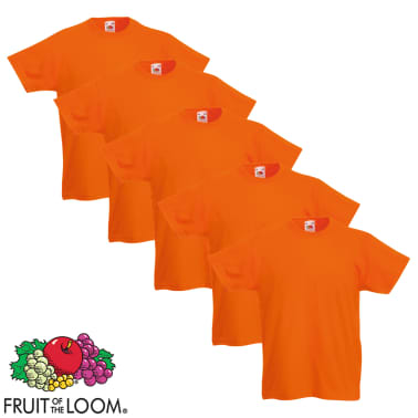 Fruit of the Loom Camiseta para niños 5 unidades naranja talla 116[1/5]