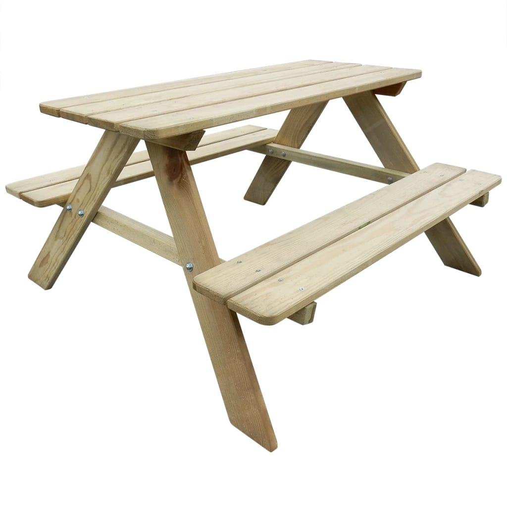 vidaXL Dětský piknikový stůl 89 x 89,6 x 50,8 cm borovice