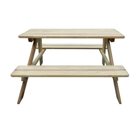 vidaXL Picknicktafel voor kinderen 89x89,6x50,8 cm FSC grenenhout[2/4]