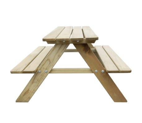 vidaXL Picknicktafel voor kinderen 89x89,6x50,8 cm FSC grenenhout[3/4]