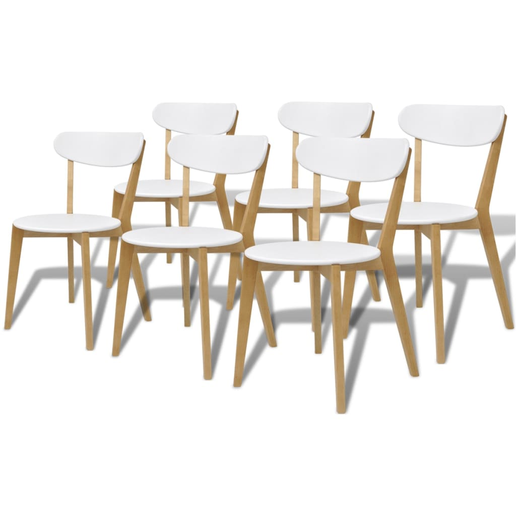 2 4 6 pcs wooden dining chairs with backrest mdf birch wood kitchen home seats