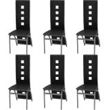 vidaXL Esszimmerstühle 6 Stk. Kunstleder schwarz