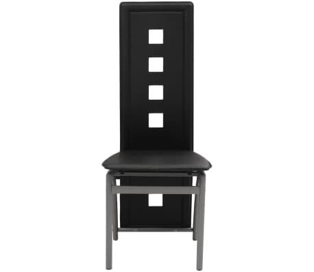 vidaXL Jedálenské stoličky, 6 ks, umelá koža, čierna (243644+243645)[2/5]