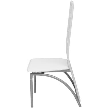 Vidaxl sedie da pranzo 6 pz pelle artificiale bianca for Sedie pelle bianca