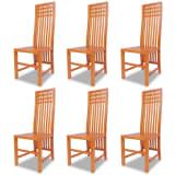 vidaXL Blagovaonske stolice 6 kom Masivna Tikovina (243524 x 3)