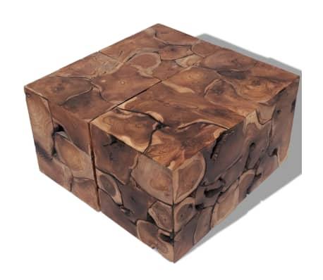 vidaxl hocker couchtisch massivholz teak zum schn ppchenpreis. Black Bedroom Furniture Sets. Home Design Ideas