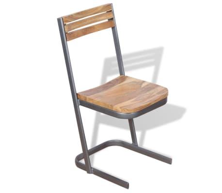 vidaXL Krzesła do jadalni, 4 szt., drewno tekowe[2/11]