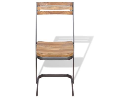 vidaXL Krzesła do jadalni, 4 szt., drewno tekowe[7/11]