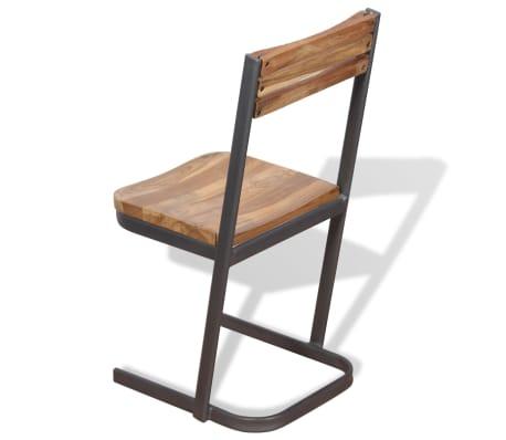 vidaXL Krzesła do jadalni, 4 szt., drewno tekowe[8/11]