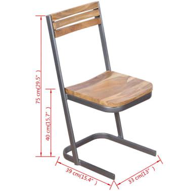 vidaXL Krzesła do jadalni, 4 szt., drewno tekowe[11/11]