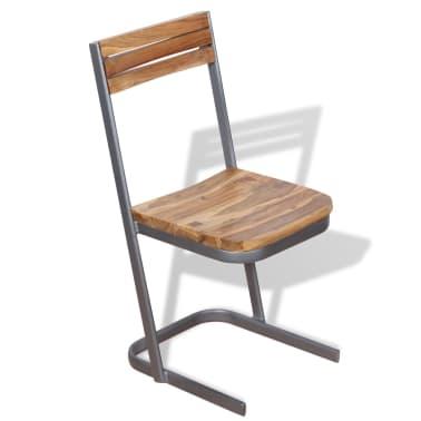vidaXL Krzesła do jadalni, 4 szt., drewno tekowe[4/11]