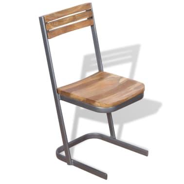 vidaXL Krzesła do jadalni, 4 szt., drewno tekowe[6/11]