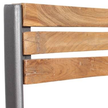 vidaXL Krzesła do jadalni, 4 szt., drewno tekowe[9/11]