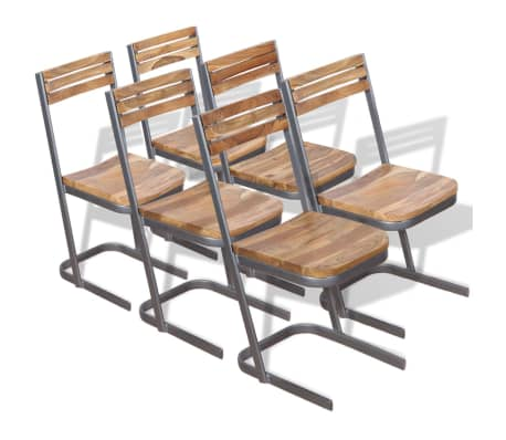 vidaxl esszimmerst hle 6 stk massivholz teak g nstig kaufen. Black Bedroom Furniture Sets. Home Design Ideas