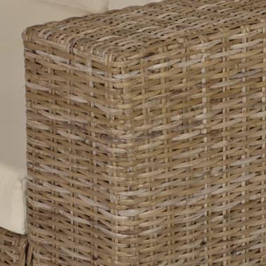 vidaxl sofa set 2 sitzer und 3 sitzer echtes rattan. Black Bedroom Furniture Sets. Home Design Ideas