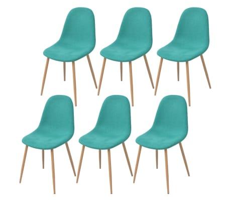 vidaXL spisebordsstole 6 stk. stof grøn