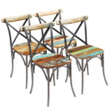 "vidaXL Dining Chairs 4 pcs Solid Reclaimed Wood 20""x20.5""x33"""