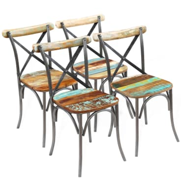"vidaXL Dining Chairs 4 pcs Solid Reclaimed Wood 20""x20.5""x33""[1/9]"