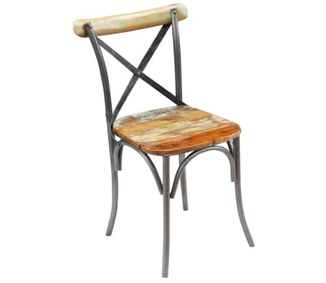 "vidaXL Dining Chairs 4 pcs Solid Reclaimed Wood 20""x20.5""x33""[5/9]"