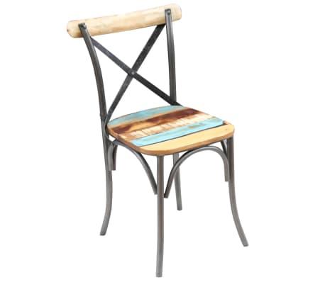 "vidaXL Dining Chairs 4 pcs Solid Reclaimed Wood 20""x20.5""x33""[9/9]"