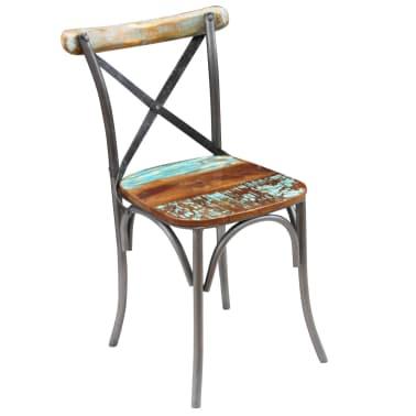 "vidaXL Dining Chairs 4 pcs Solid Reclaimed Wood 20""x20.5""x33""[6/9]"