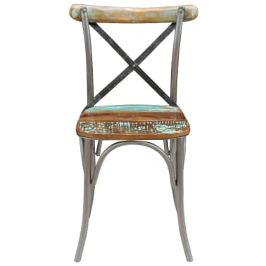 "vidaXL Dining Chairs 4 pcs Solid Reclaimed Wood 20""x20.5""x33""[8/9]"