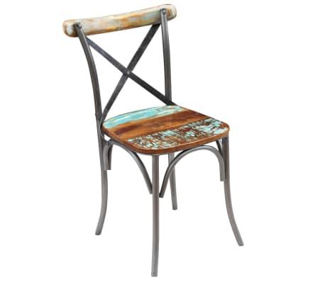 "vidaXL Dining Chairs 6 pcs Solid Reclaimed Wood 20""x20.5""x33""[6/9]"