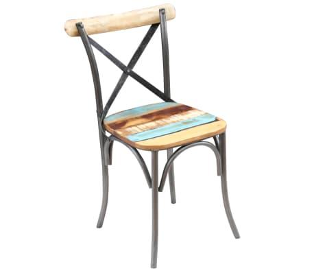 "vidaXL Dining Chairs 6 pcs Solid Reclaimed Wood 20""x20.5""x33""[9/9]"