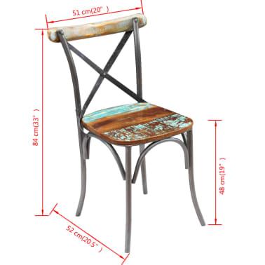 "vidaXL Dining Chairs 6 pcs Solid Reclaimed Wood 20""x20.5""x33""[5/9]"