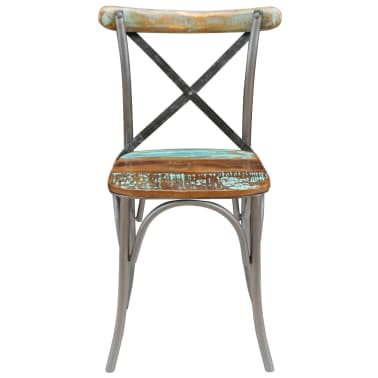 "vidaXL Dining Chairs 6 pcs Solid Reclaimed Wood 20""x20.5""x33""[8/9]"