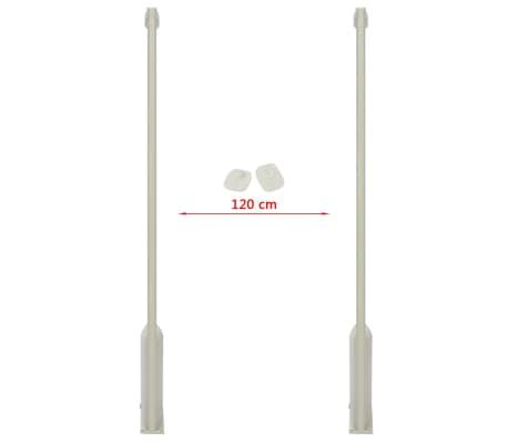 vidaXL RF antenos sistema su žymekliais, 8,2 MHz, balta[5/16]