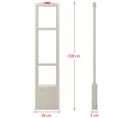 vidaXL Système d'antenne RF avec étiquettes et détacheurs 8,2MHz Blanc[8/16]